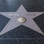 Aretha Franklin's star on the Hollywood Walk of Fame.